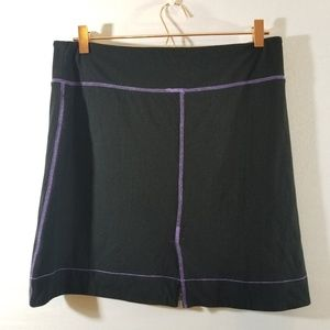 Free People Skirts - Free People Black Purple Stich Stretch Skirt Sz L